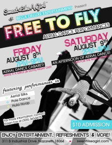 And Evening of Aerial Dance August 8, Friday 7 pm